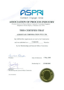 thumbnail of ASPRI – CORPORATE MEMBER CERTIFICATE