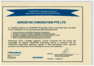 thumbnail of Aerostar – Chartek Applicator Certficate