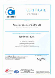 thumbnail of Aerostar Engineering – ISO 9001-2015 (2018)