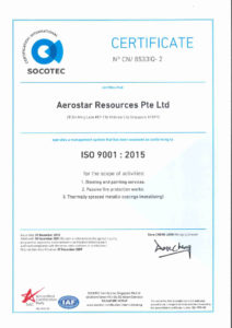 thumbnail of Aerostar Resources-ISO 9001 2015
