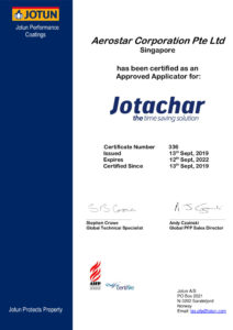 thumbnail of Jotachar Applicator Certificate