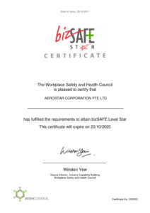 thumbnail of bizSAFE STAR Certificate – 2017